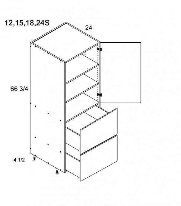 Cabinets, US Cabinet Depot Torino Grey Wood cabinets-us-cabinet-depot-palermo-gloss-white-tall-one-door-two-drawer-utility-blum-24w-x-24d-x-72h-PGW-T2DB2472S-BLUM