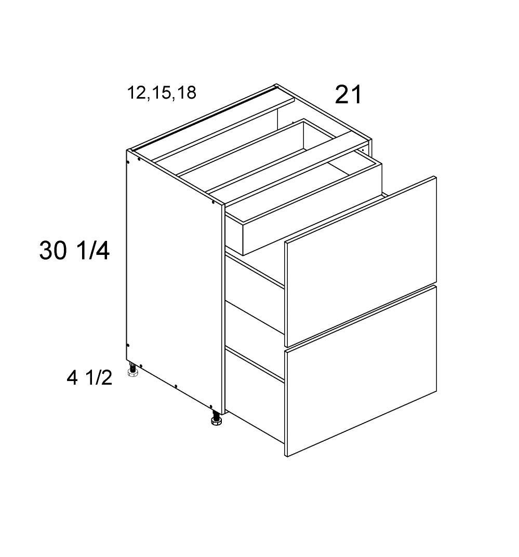 US Cabinet Depot Palermo Gloss White, Vanities bathroom-cabinets-us-cabinet-depot-palermo-gloss-white-two-drawer-with-one-inner-drawer-vanity-base-blum-18w-x-21d-x-34-3-4h-PGW-2VDBID18-BLUM