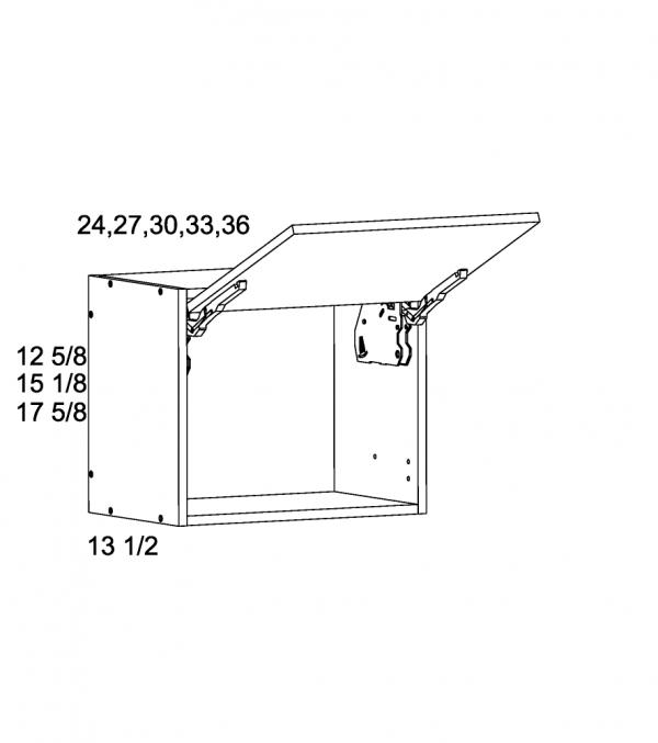Cabinets, US Cabinet Depot Torino Grey Wood cabinets-us-cabinet-depot-palermo-gloss-white-13-5-inch-deep-flip-up-wall-cabinet-blum-36w-x-13-1-2d-x-18h-PGW-WFD3618-BLUM