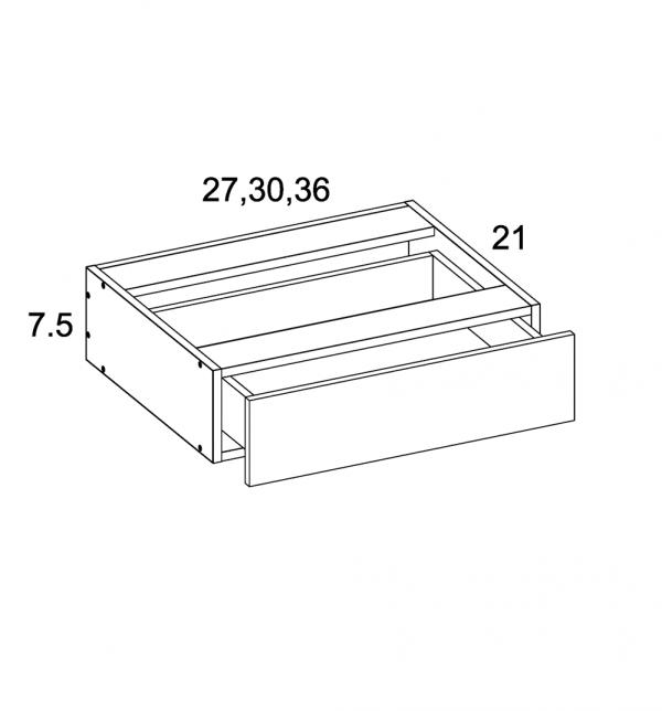 US Cabinet Depot Torino Dark Wood, Vanities bathroom-cabinets-us-cabinet-depot-palermo-gloss-white-vanity-knee-drawer-blum-36w-x-21d-x-7-5h-PGW-VKD36-BLUM