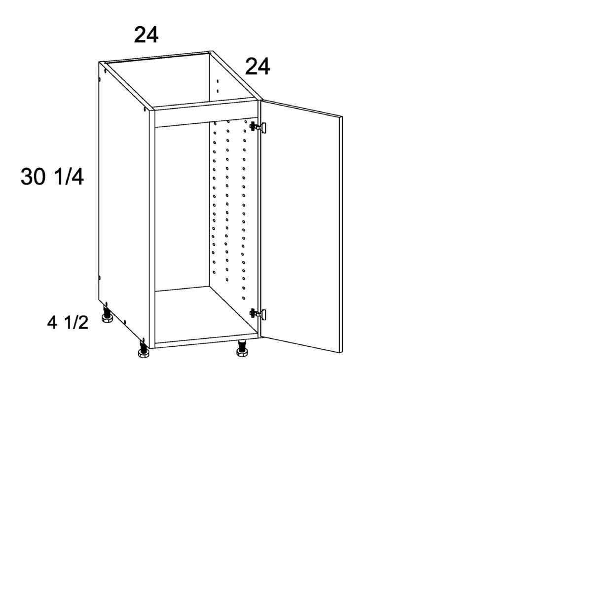 Cabinets, US Cabinet Depot Verona Pure Blank -us-cabinet-depot-verona-pure-blank-full-height-one-door-sink-base-24w-x-24d-x-30-1-4h-VPB-SB24SFH