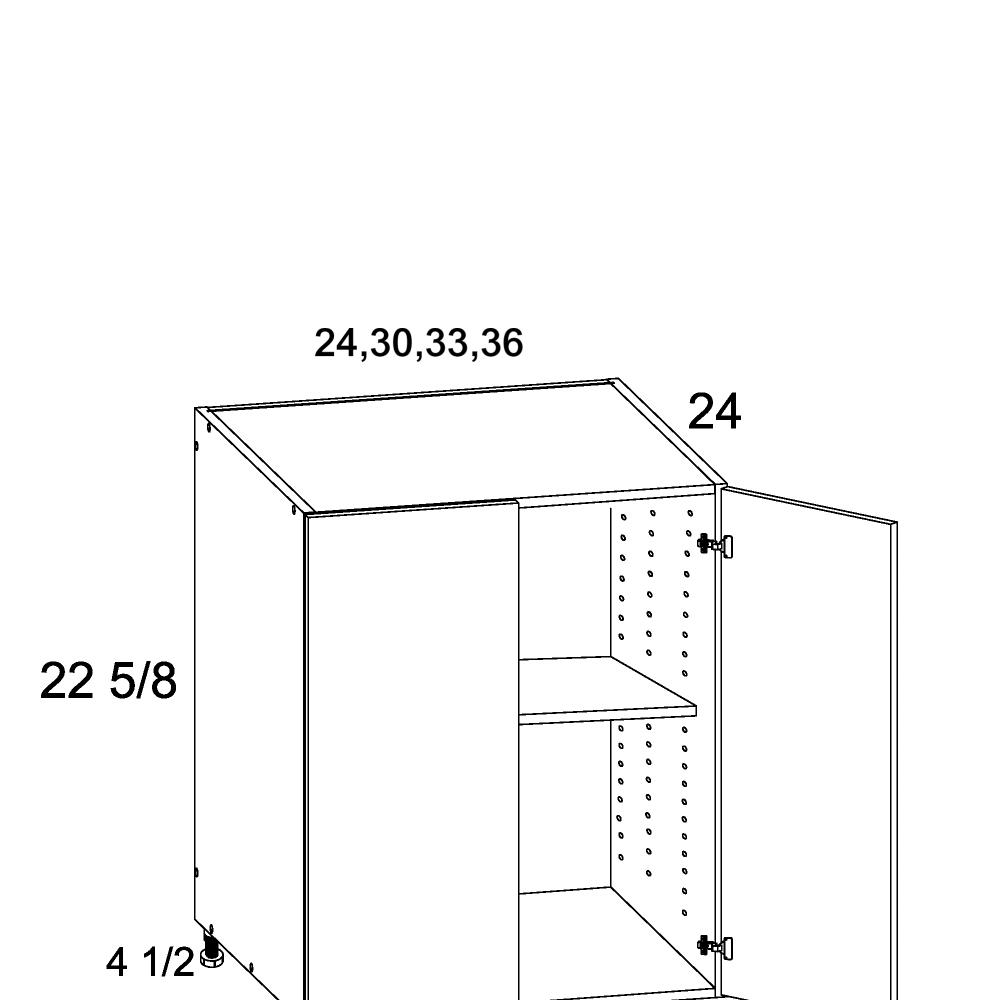 Cabinets, US Cabinet Depot Verona Midnight Navy -us-cabinet-depot-verona-pure-blank-full-height-two-door-desk-base-24w-x-24d-x-23h-VPB-DDO24