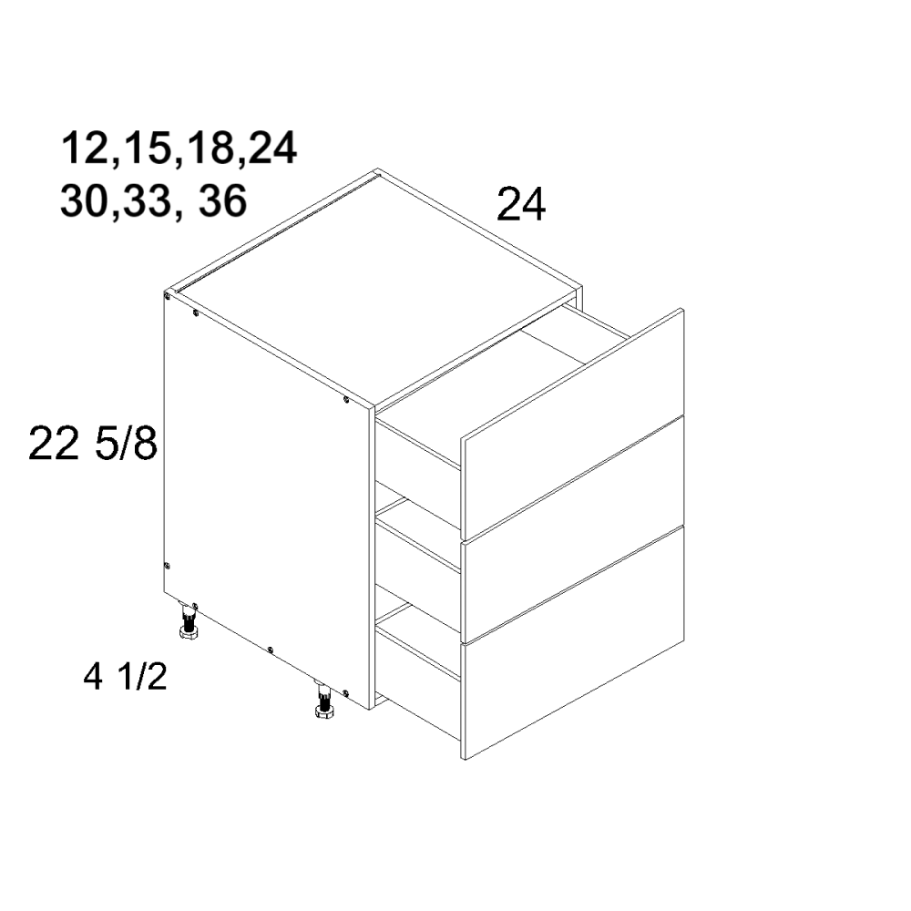 Cabinets, US Cabinet Depot Verona Midnight Navy -us-cabinet-depot-verona-pure-blank-three-drawer-desk-base-12w-x-24d-x-23h-2-VPB-DDR3DB12