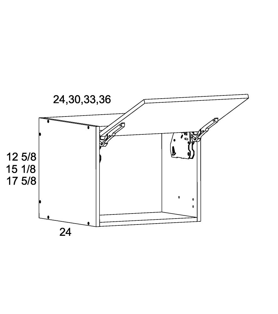 Cabinets, US Cabinet Depot Verona Pure Blank -us-cabinet-depot-verona-storm-grey-24-inch-deep-flip-up-wall-cabinet-blum-36w-x-24d-x-12h-VSG-WFD361224-BLUM