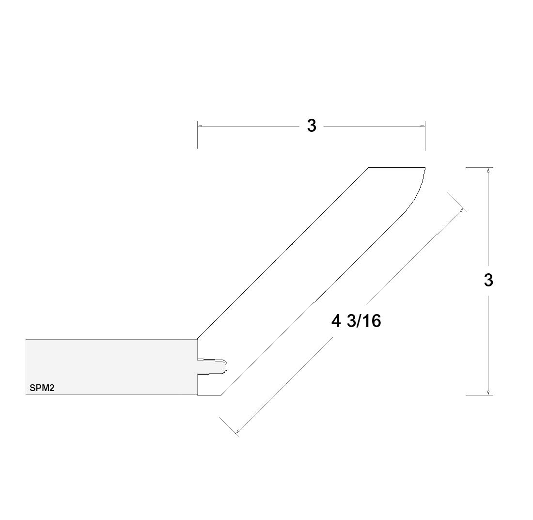 Cabinets, US Cabinet Depot Verona Pure Blank -us-cabinet-depot-verona-midnight-navy-3-inch-angle-crown-moulding-VMN-LACM8