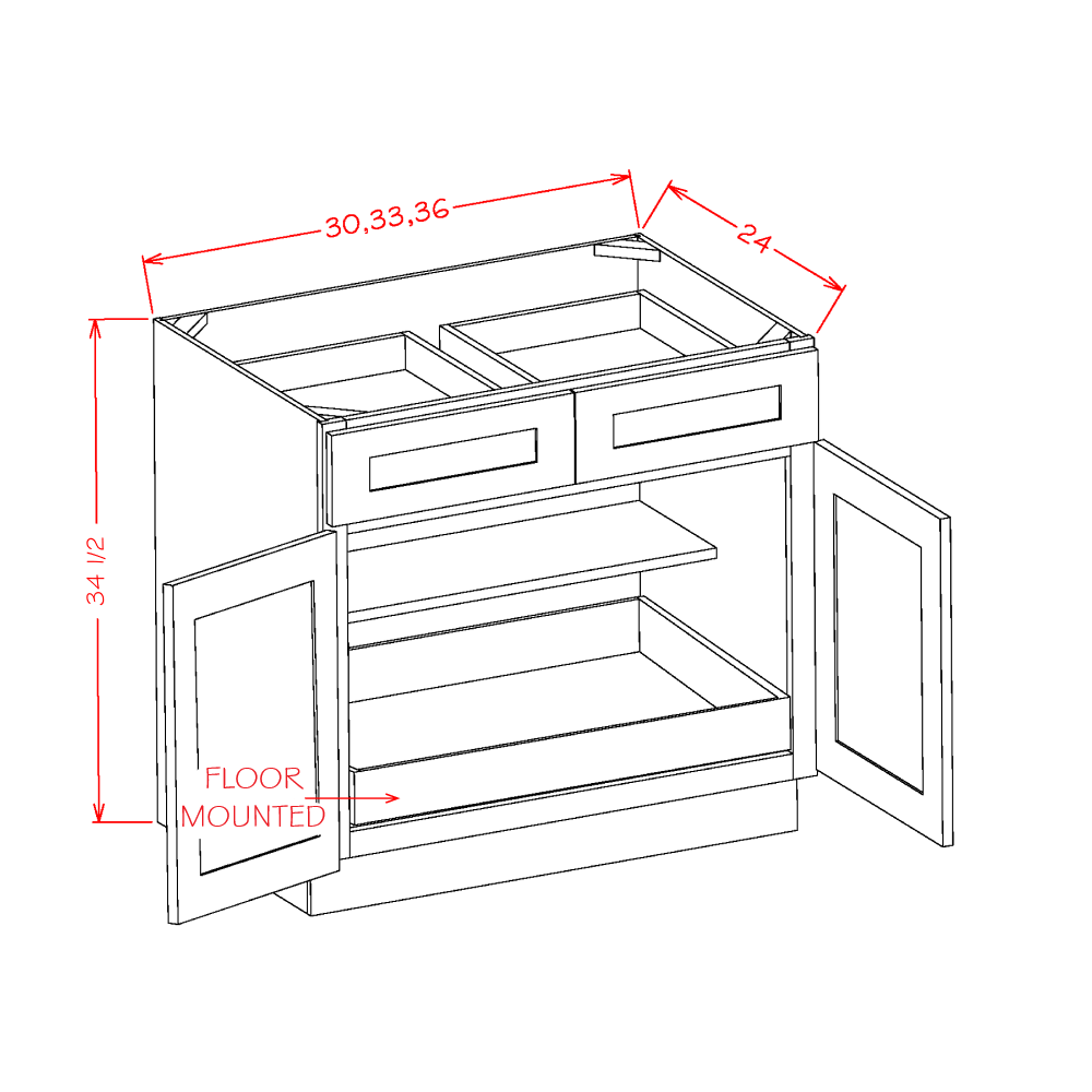 Cabinets, US Cabinet Depot Shaker Antique White cabinets-us-cabinet-depot-shaker-white-double-door-double-drawer-one-rollout-shelf-base-kit-30w-x-24d-x-34-1-2h-U-SW-B301RS